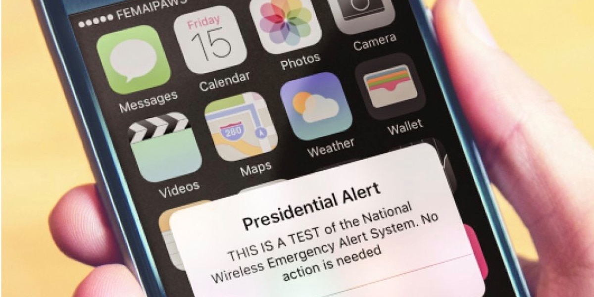 National Wireless Presidential Alert Test Postponed to Oct. 3