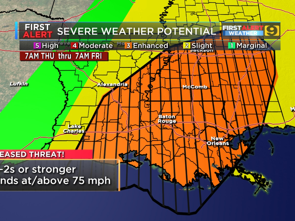 FIRST ALERT FORECAST: Severe weather threat Thurs. is arguably 'greater than any other time this spring'