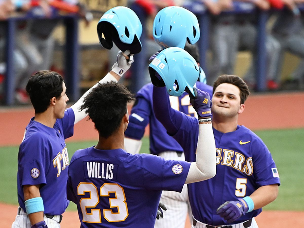 No. 9 LSU baseball survives against Lamar