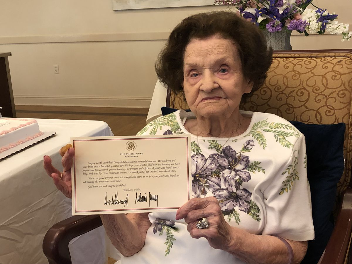President Trump sends birthday letter to 100-year-old woman in Denham Springs