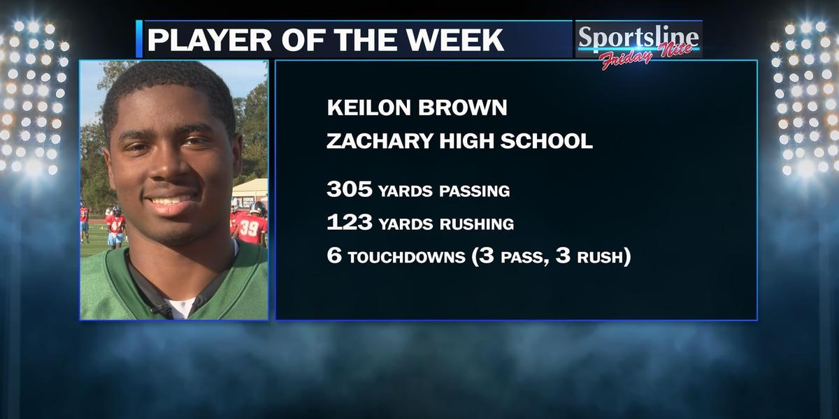 Sportsline Player of the Week: Zachary QB Keilon Brown (Week 9)