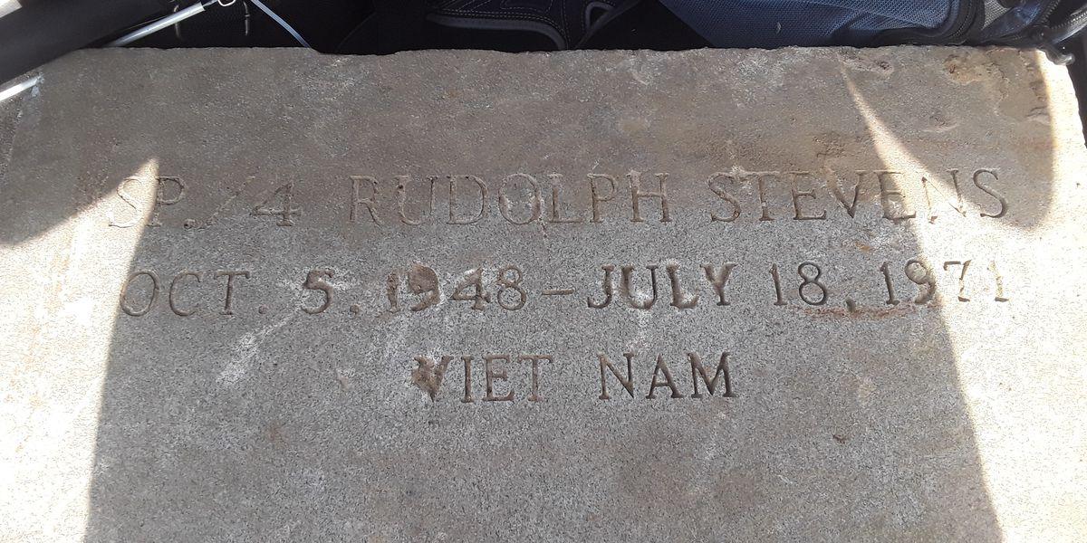 Marine returns Vietnam veteran's washed up headstone to family