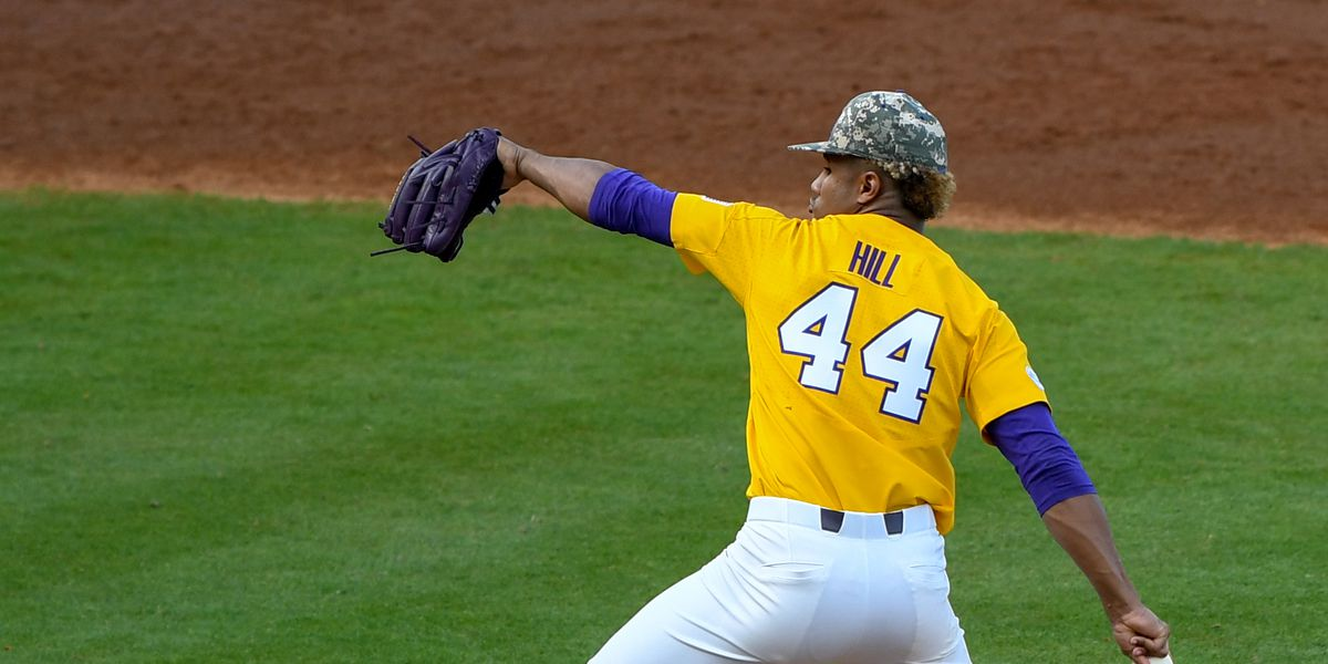 LSU pitcher Jaden Hill named SEC Freshman of the Week