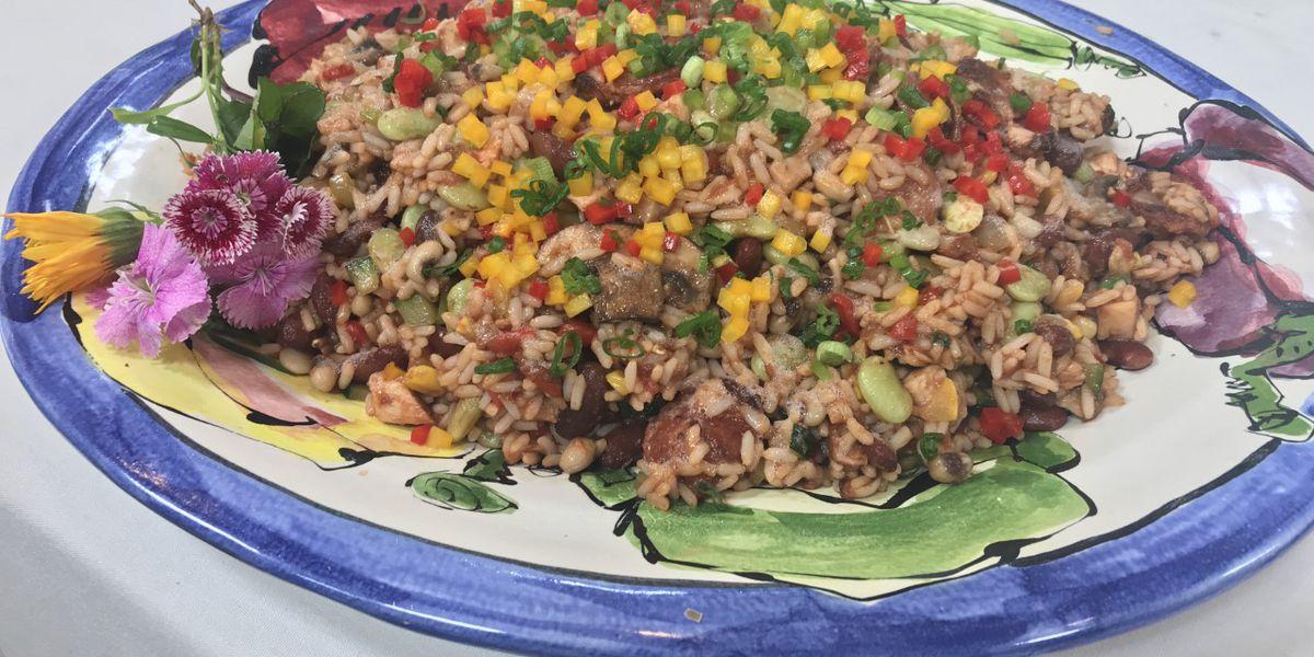 Red Beans, Sausage and Mixed Vegetable Jambalaya