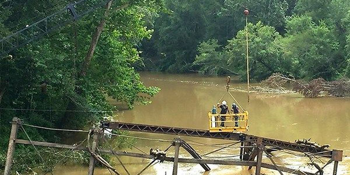 Collapsed bridge removed from Tangipahoa River