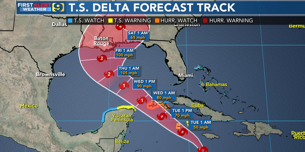 FIRST ALERT FORECAST: Tropical Storm Delta forms in Caribbean