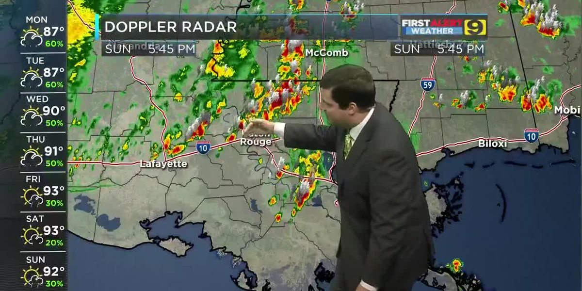 FIRST ALERT FORECAST: Sunday, June 16 - 5:30 p.m.