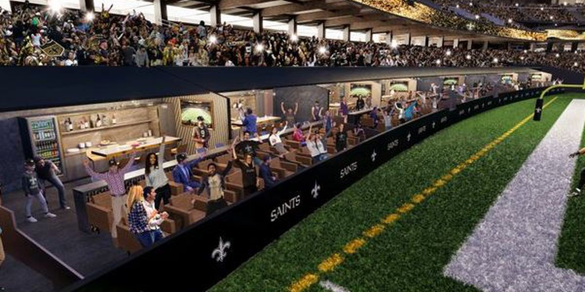 New Orleans Saints selling tickets for 12 new field level suites