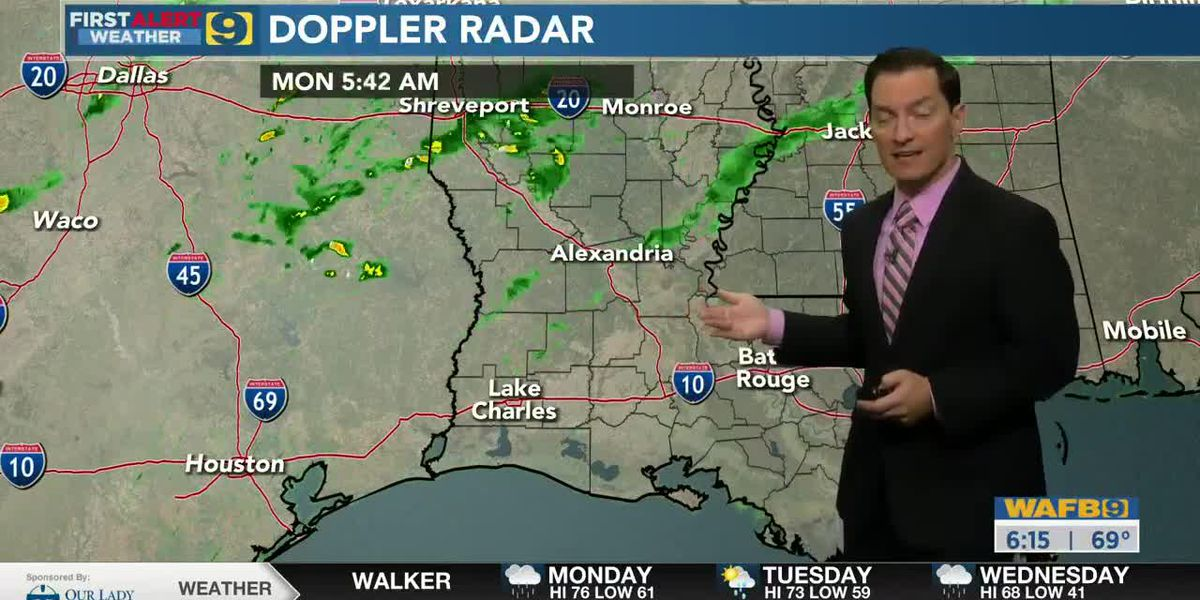 FIRST ALERT FORECAST: Monday, Jan. 25 - 6 a.m.