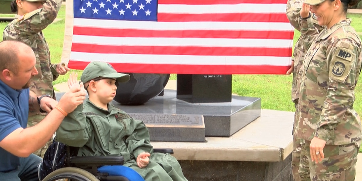 Drake Quibodeaux made honorary soldier at Fort Polk