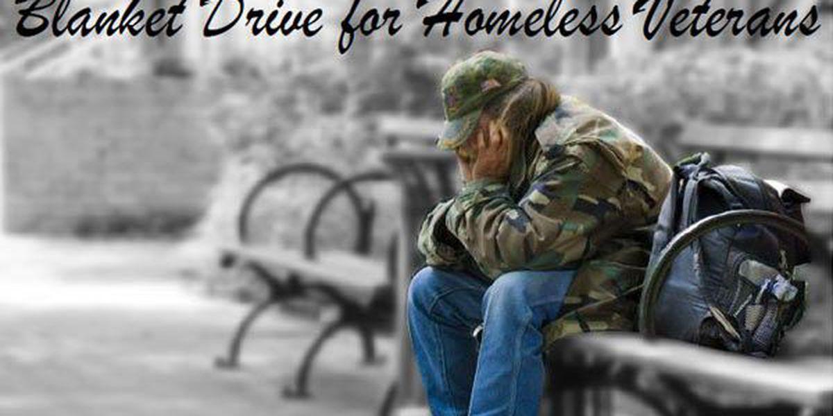 Blanket drive for homeless veterans