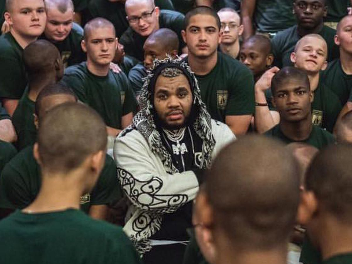 Kevin Gates visits Louisiana Youth Challenge Program