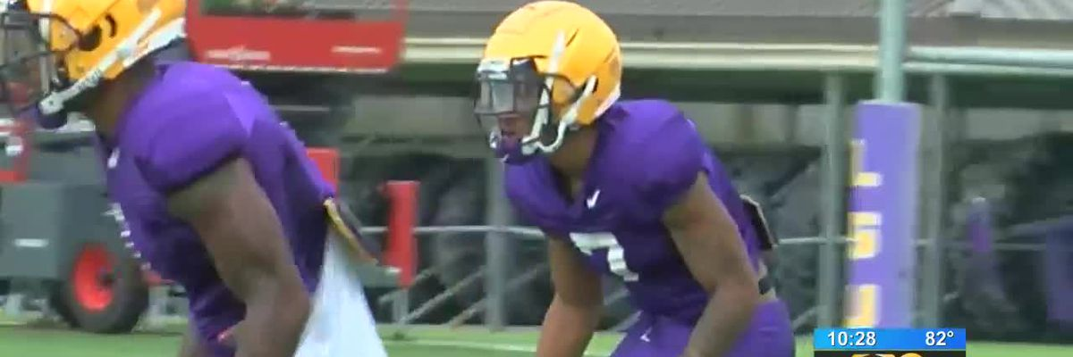 Burrow, Delpit talk about LSU fall camp