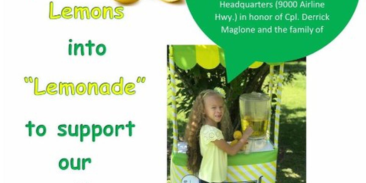 Daughter of BRPD corporal hosts lemonade stand fundraiser