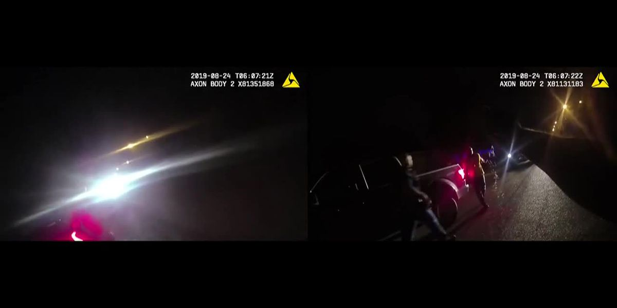 Body cam video shows Tpr. Sheldon Perkins getting hit with stun gun