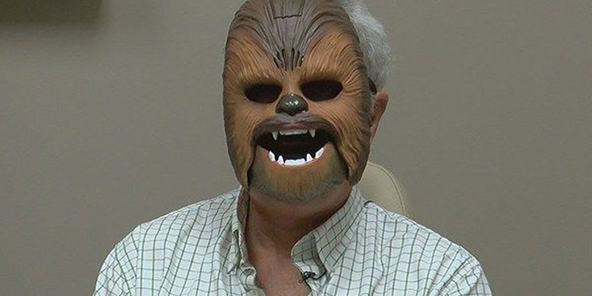 Cancer patient uses Chewbacca mask to heal with 'The Force'