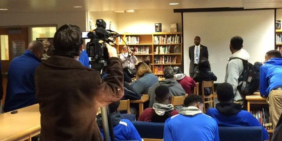 McKinley High principal holds meeting to discuss recent suspensions of Head Coach, Assistant Coach