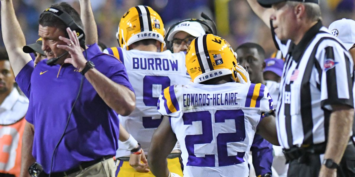 Burrow, Edwards-Helaire named SEC Co-Offensive Players of the Week