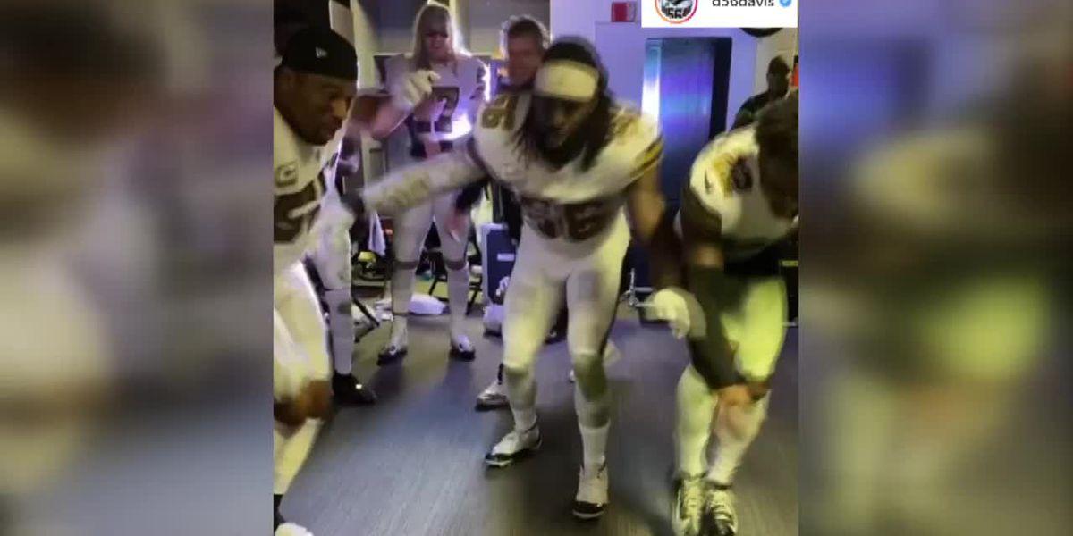 Saints fined, lose draft pick for not wearing masks in postgame locker celebration