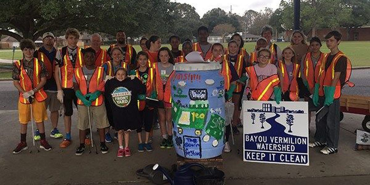 Lafayette student art project rolls out the rain barrels