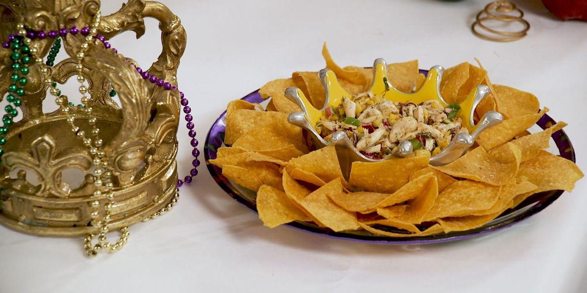 Mardi Gras Crab Salad