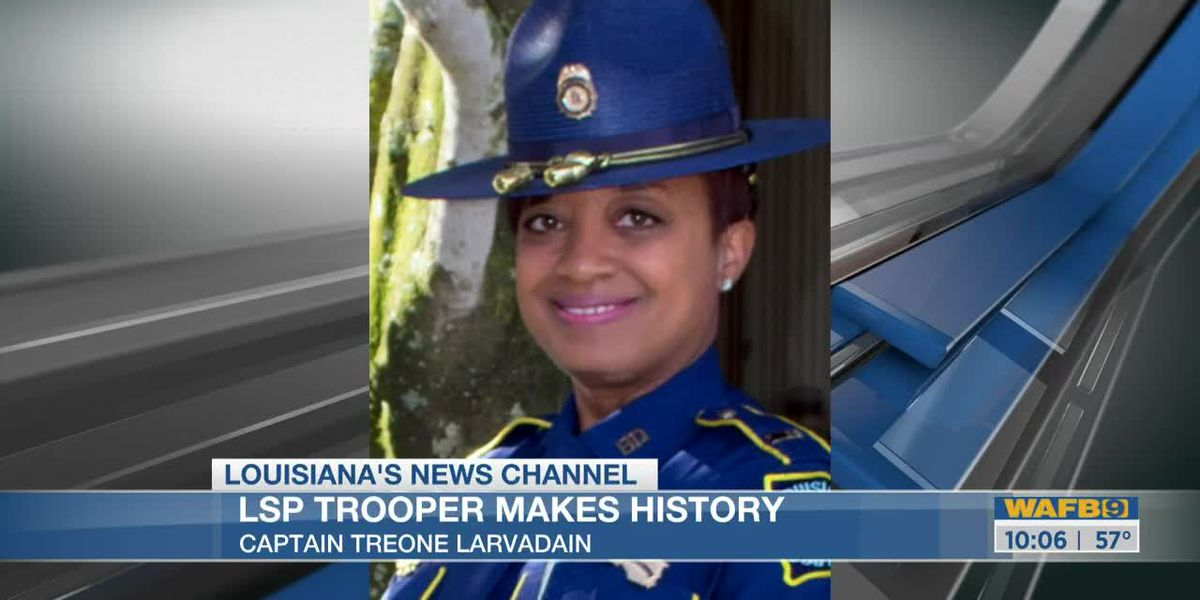Woman becomes first African American female captain in Louisiana State Police