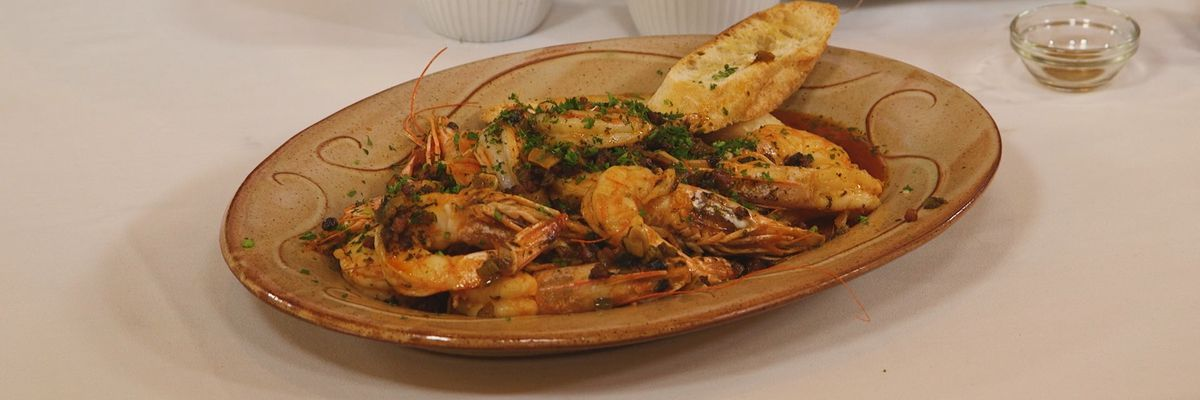 Shrimp in Pepper-Butter and Beer Sauce