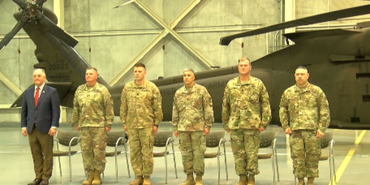 Soldiers prepare for deployment to the Middle East