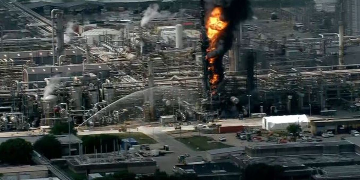 Exxon Baytown refinery fire sends smoke plume skyward