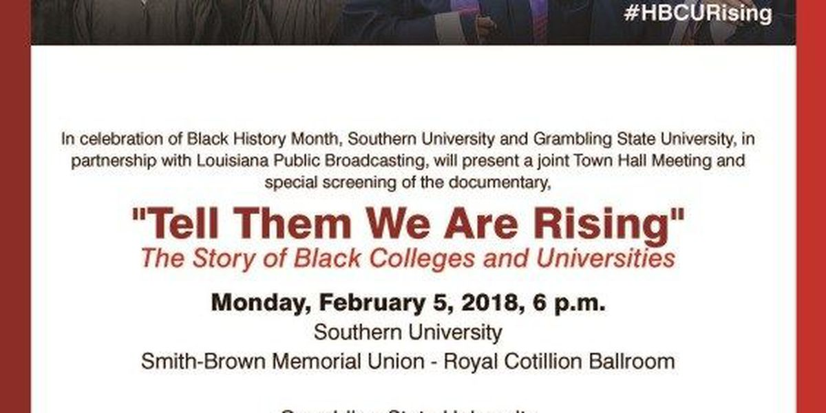 Southern and Grambling to host joint Town Hall, advance screening of HBCU Documentary