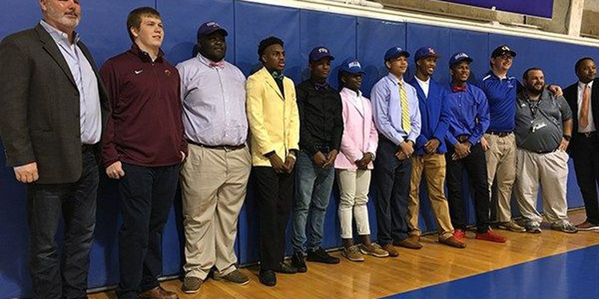High school football players in WAFB area decide on schools on NSD